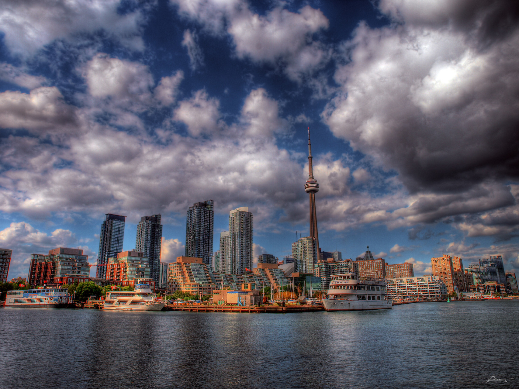 Clouds moving over Toronto
